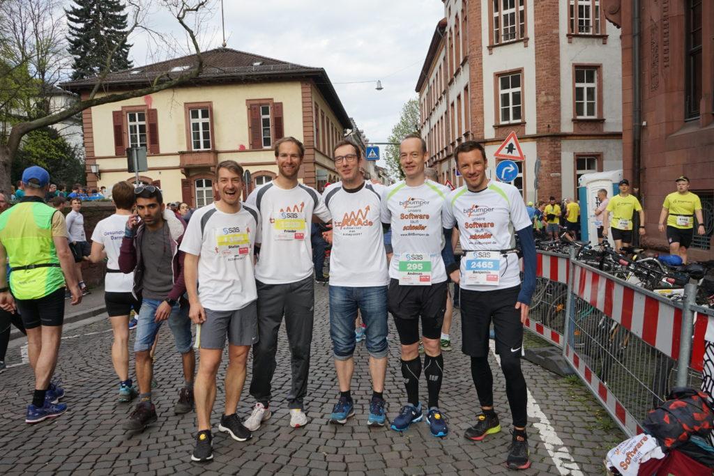 BitBumper Startgruppe des Heidelberger Halbmarathon Starerbild 2019