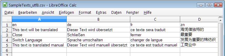 TLang.Spreadsheet