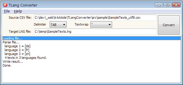 Delphi FMX TLang Component data creation