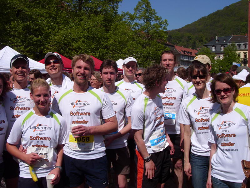 Halbmarathon Heidelberg - Im Ziel