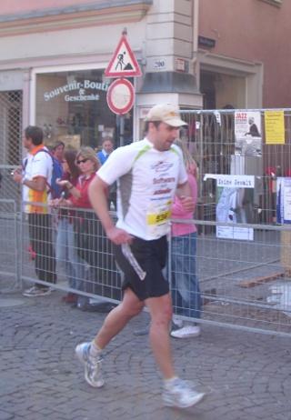 Halbmarathon Zieleinlauf