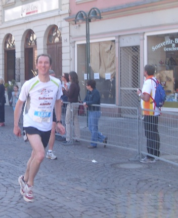 Halbmarathon Zielgerade