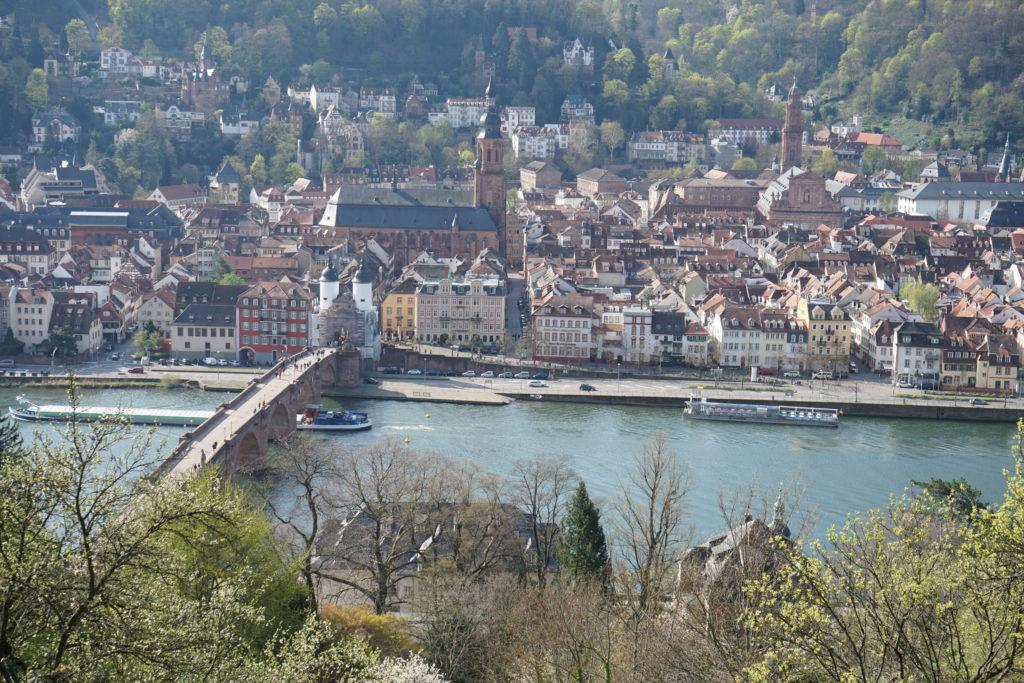 Heidelberg Stadtansicht beim Halbmarathon 2019