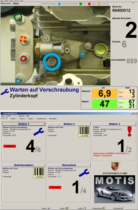 BitBumper Referenzprojekt: Screenshot Motorenmontage für die Porsche AG