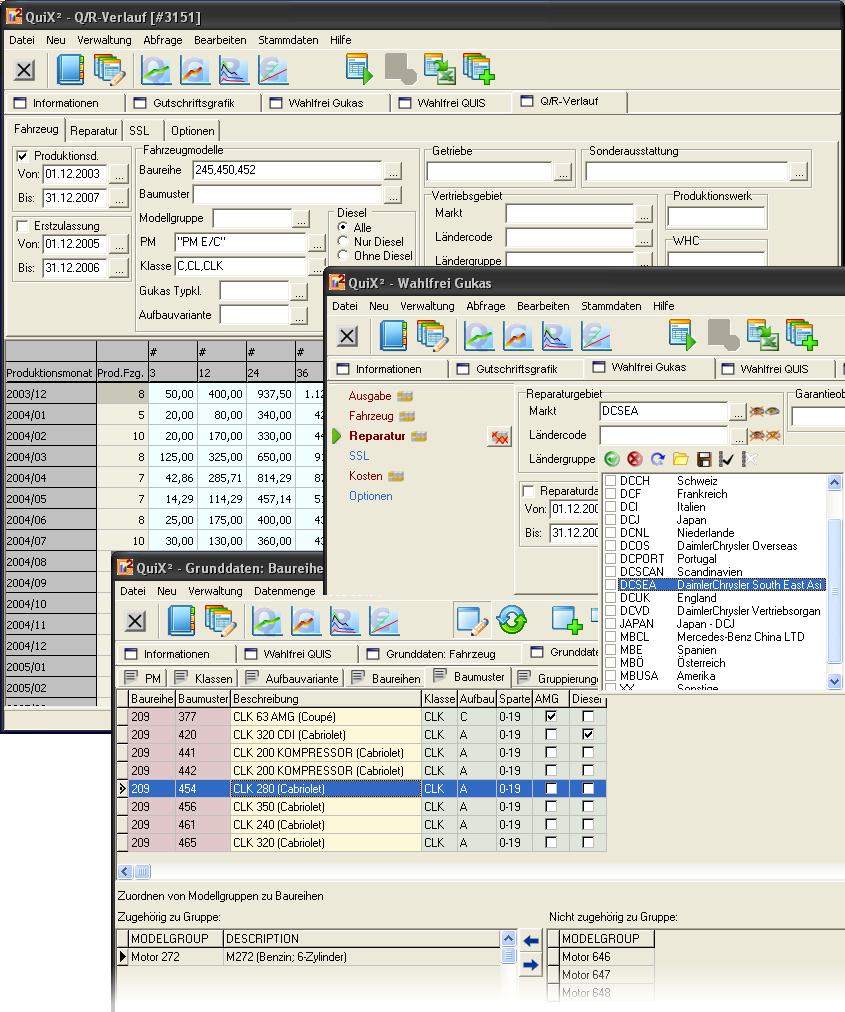 Beispielbildschirm der Referenzanwendung für ein Softwareprojekt